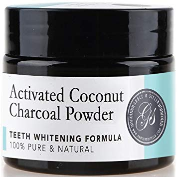 Charcoal Teeth Whitening Powder | 100% Organic & Natural | Safe & Effective Whitener for Normal &...