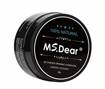 MS.Dear Teeth Whitening Charcoal Powder, Natural Activated Charcoal Powder, Teeth Whitener Product, Made… Review