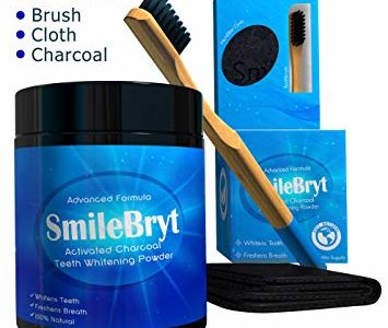 SMILEBRYT – Charcoal Teeth Whitening – Activated Charcoal Tooth Whitener with Bamboo Toothbrush &… Review